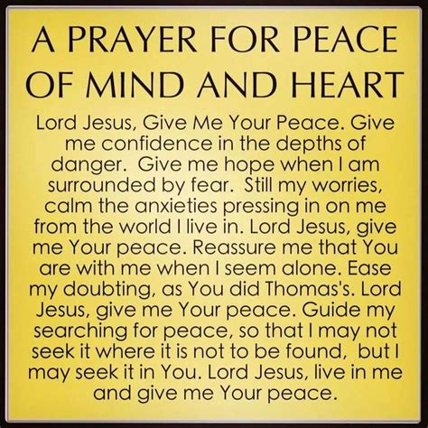 prayer of comfort and peace a prayer for peace of mind and heart art quotes funny