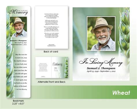 make your own funeral cards memorials