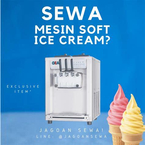 Harga Mesin Soft Merk Gea jagoan sewa jasa sewa harian mingguan bulanan freezer