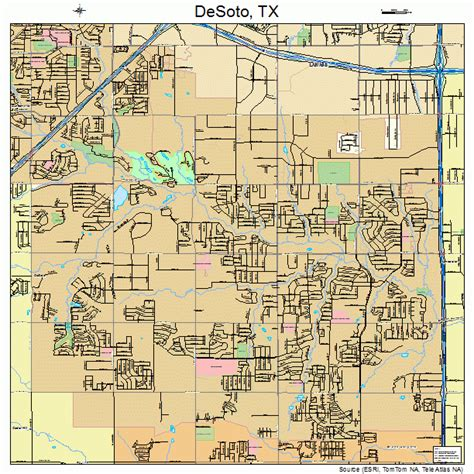 map of desoto texas desoto texas map 4820092