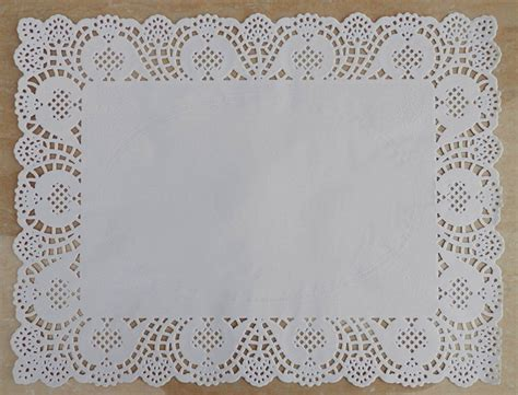 Paper Doyleys 12 Termurah Paper Doli Paper Dolly 12 15 7 inch rectangle white lace grease proof paper doilies cake food pad wedding