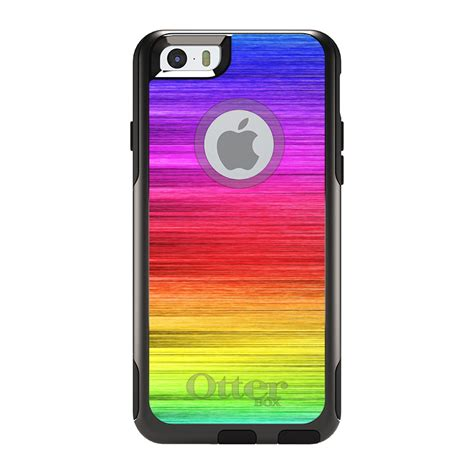 otterbox commuter for iphone 7 8 plus x xs max xr rainbow shimmering lines ebay
