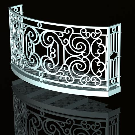 Curved Balcony Design: Faux Wrought Iron, CAD How To