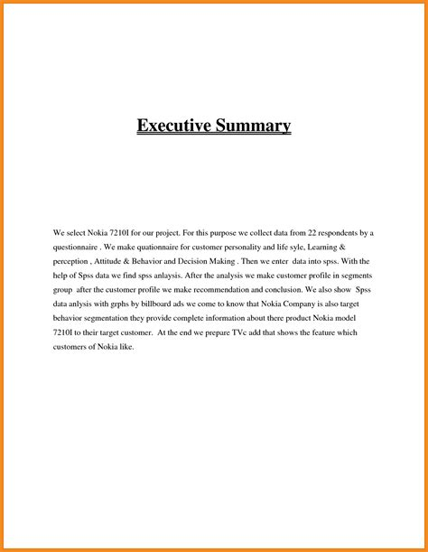 executive summary exle resume exles