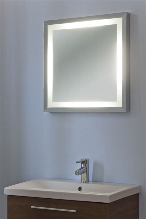 alexia chrome bathroom mirror with demister pad sensor