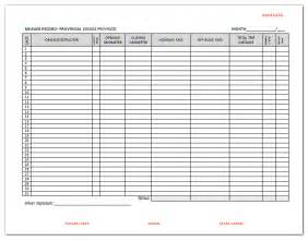 Fuel Report Template Ifta Mileage Report Template Rachael Edwards