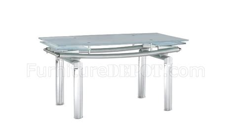 glass top modern dining table w extension leaf options