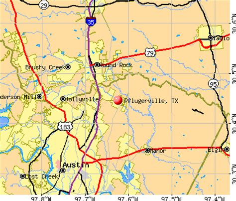 pflugerville texas map pflugerville texas tx 78660 profile population maps real estate averages homes