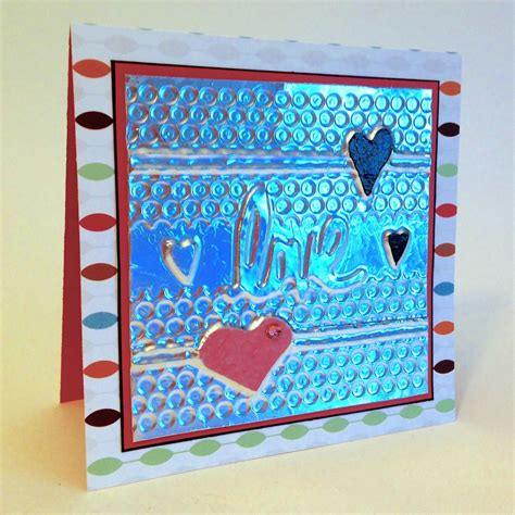 embossed look handmade cards craft paper scissors