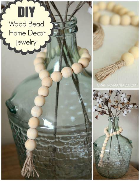 Beaded Home Decor by Diy Wood Bead Home Decor Jewelry Craft O Maniac