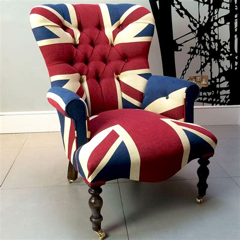 union jack armchair napoleonrockefeller com collectables vintage and