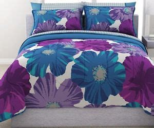 Teal And Purple Bedding by Purple And Teal Floral Reversible Bed In A Bag Bedding Set