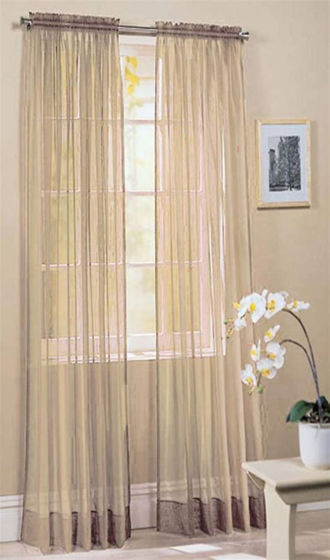 voile curtains ivory voile panel buy one get one free slotted top 150cm net curtain 2 curtains