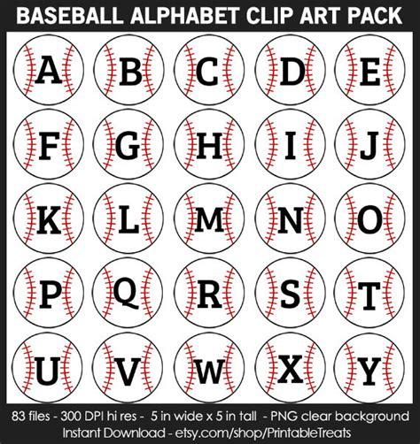free printable baseball alphabet banner pack baseball alphabet clipart pack commercial use numbers