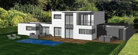 bureau construction cuisine avant projet pour maison contemporaine avec toit