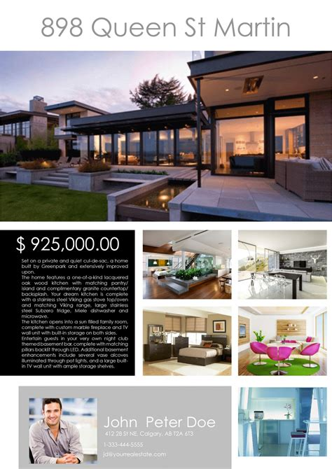 Real Estate Feature Sheet Template by Real Estate Photography Calgary Feature Sheets