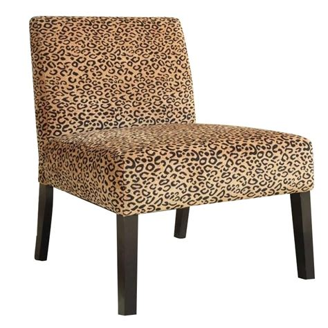 animal print chairs living room coaster accent upholstered slipper chair in beige animal