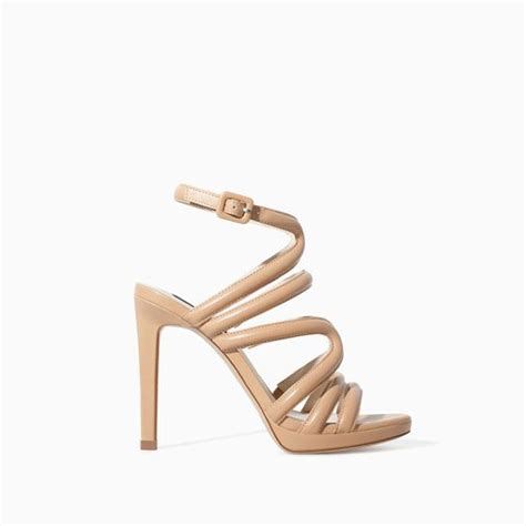 zara high heels sandals strappy sandal heels zara gold high heel sandals