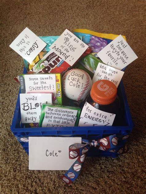 good christmas presents for boyfriends in high school baseball luck basket things i boyfriends the o jays and baskets