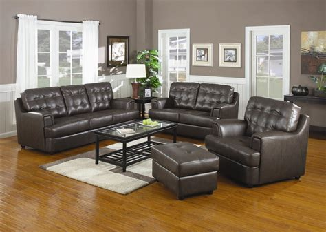 Hugo Chocolate Leather Sofa Set   Sofa Sets