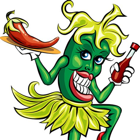 funny hot pepper images funny hot pepper cartoon styles vector free vector in