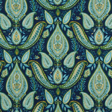peacock upholstery fabric peacock blue paisley fabric woven cotton upholstery modern