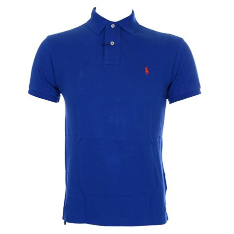 Polo Ralph Laurent polo ralph slim fit pacific royal blue polo shirt