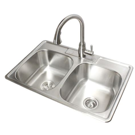 24 Inch Drop In Kitchen Sink 33 Inch Stainless Steel Top Mount Drop In 50 50