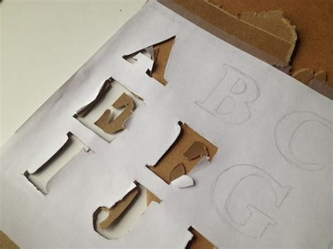How To Make A Stencil With Tracing Paper - how to own it letter to letter print autostraddle