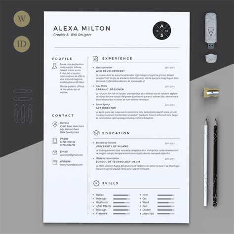 2 Page Resume Template by 2 Pages Resume Resume Templates On Creative Market