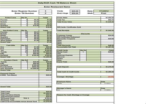 personal balance sheet template and restaurant balance sheet