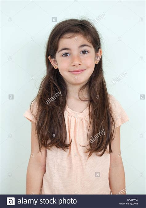 7 year old hair portrait of 7 year old girl stock photo royalty free