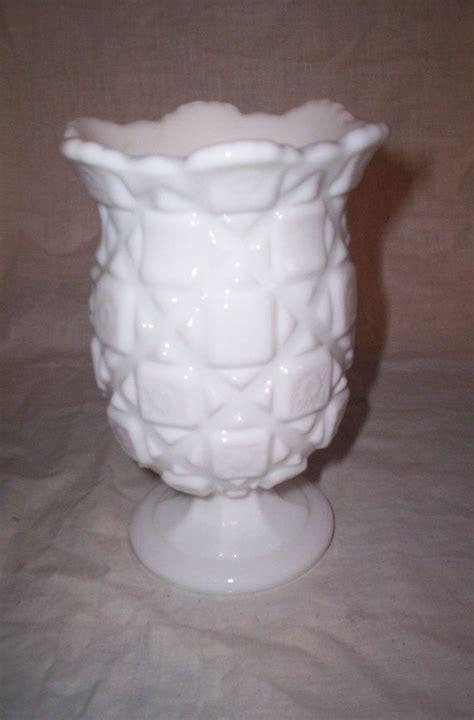 Westmoreland Milk Glass Vase by Vintage Westmoreland Milk Glass Vase