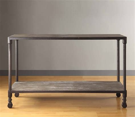 Restoration Hardware Console Table Restoration Hardware Industrial Console Table Look 4 Less