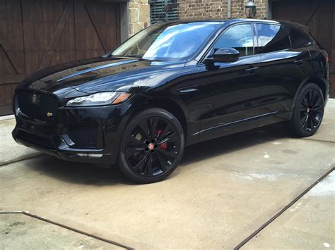 jaguar f pace blacked out jaguar 2017 f pace suv transportation pinterest