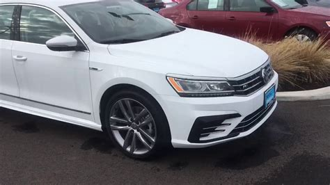 white volkswagen passat 2017 2017 white vw passat r line youtube
