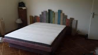 mounting headboard to bedframe garden inspired pallet headboard bed frame lit et t 234 te