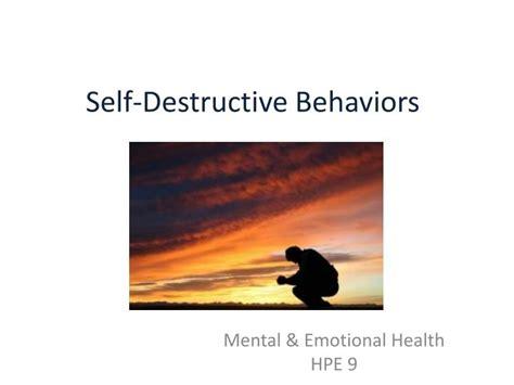 11 Self Destructive Behaviors by Ppt Self Destructive Behaviors Powerpoint Presentation