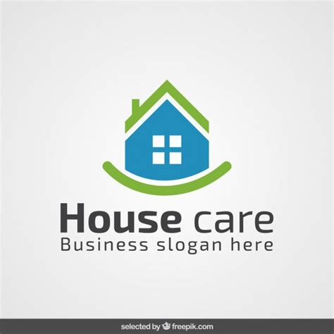 Blue House Realty by Green And Blue Real Estate Logo Vector Free