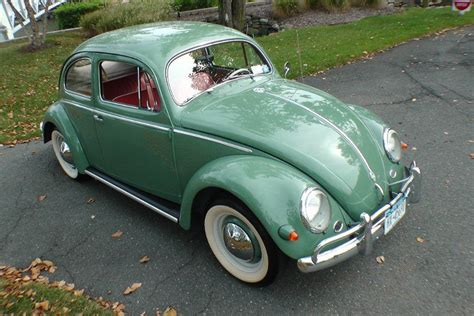 bmw volkswagen bug 1956 agave green oval window beetle bug sedan volkswagen
