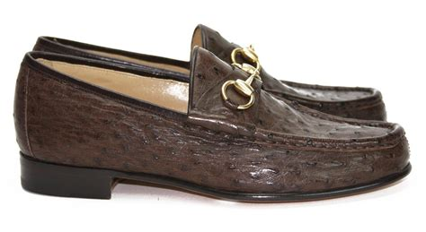 mens ostrich loafers new gucci s ostrich horsebit brown loafers moccasin