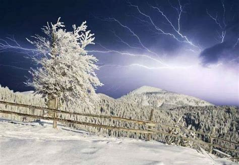 thundersnow freezing temperatures  states