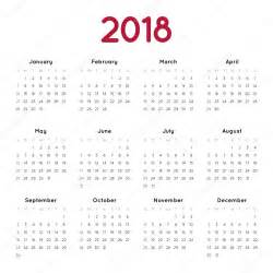 Hungary Calendario 2018 Vektor Napt 225 R 2018 Stock Vector 119483574