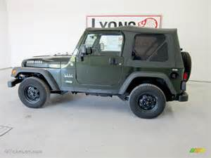 Moss Jeep 2005 Moss Green Pearlcoat Jeep Wrangler Willys Edition 4x4