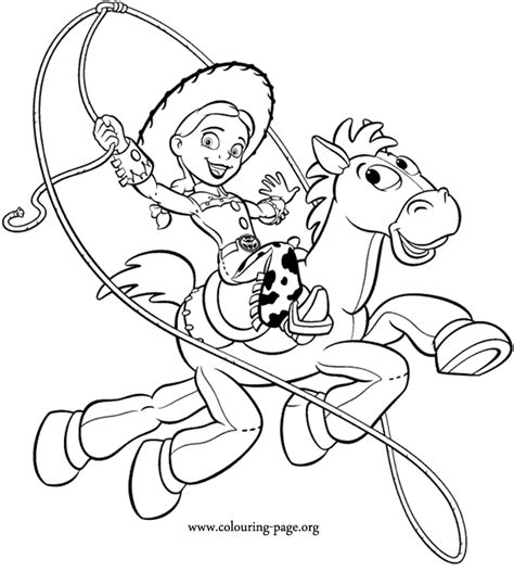 free how to draw jessie coloring pages