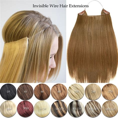 hair extensions elastic invisible wire hair extensions halo style remy