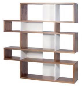 10 Shelf Bookcase London Walnut Frame With Pure White Backs 10 Shelf