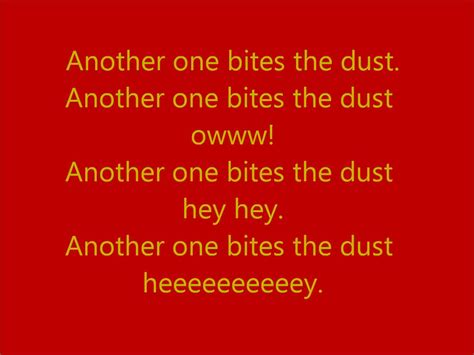 Another One Bites The Dust by Another One Bites The Dust By With Lyrics Iron