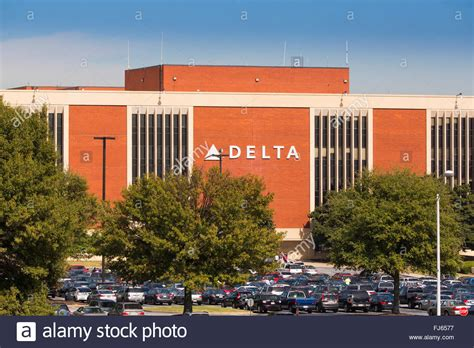 Line Hq general view of the delta airlines headquarters at hartsfield jackson stock photo royalty free