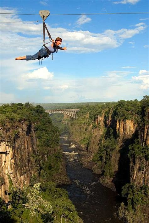 flying fox swing high wire activities in victoria falls bungee swing